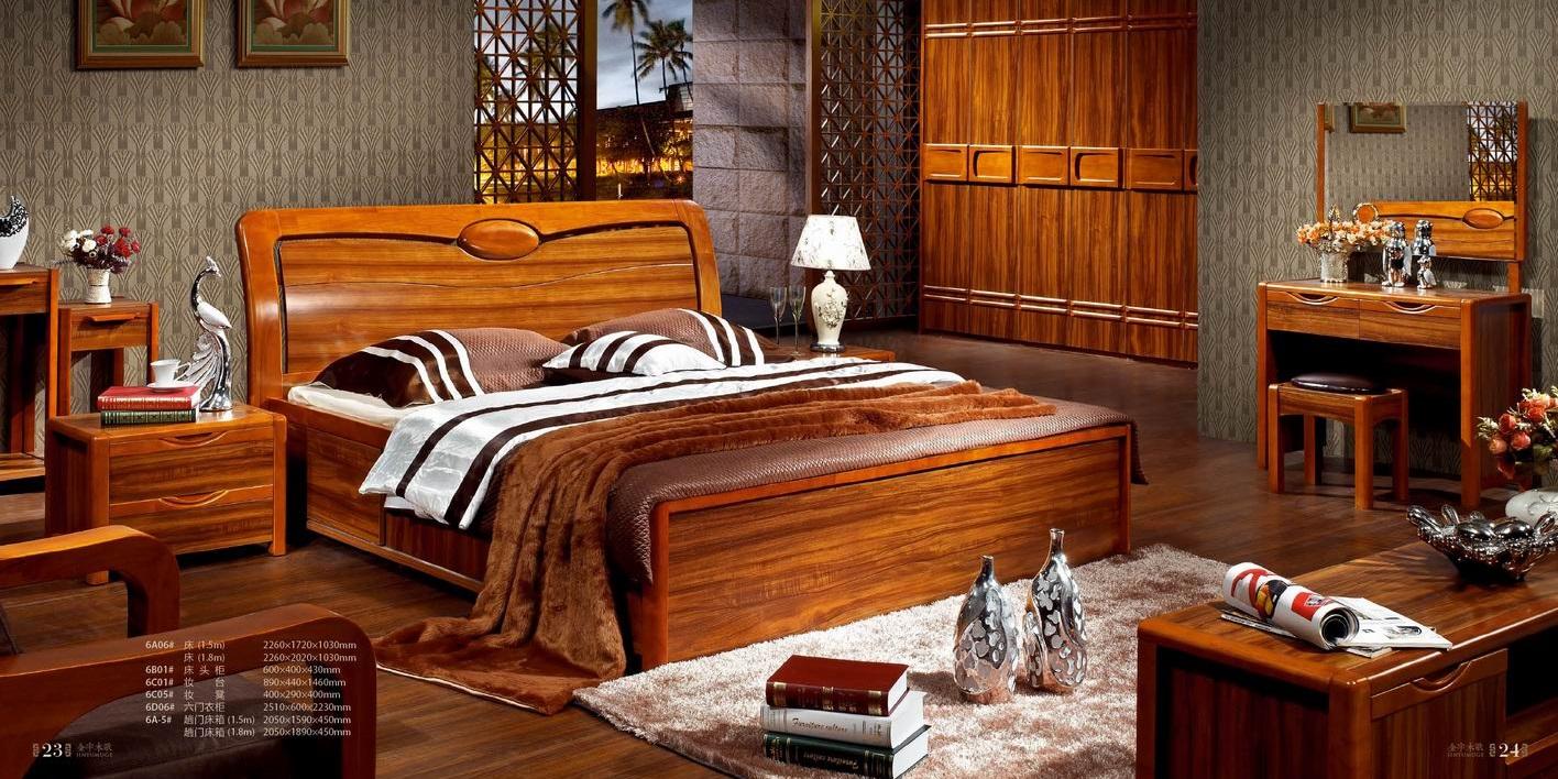 Solid wood bedroom furniture sets 3